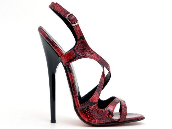 sandals 819 2443 reptil rosso h587 high heels shop