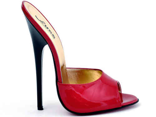 Mules - 584-2443 - vernice rosso