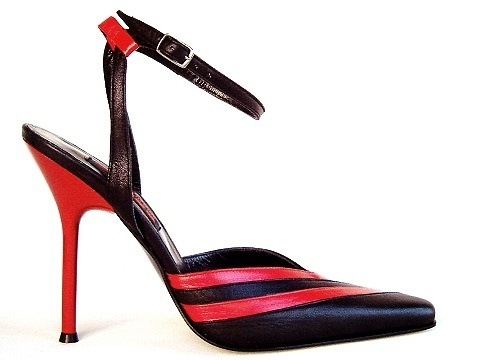 cb5e5e010e8363 Sandals - 2227 - nero rosso - High Heels Shop by FUSS Schuhe - Sexy Shoes  Made In Italy