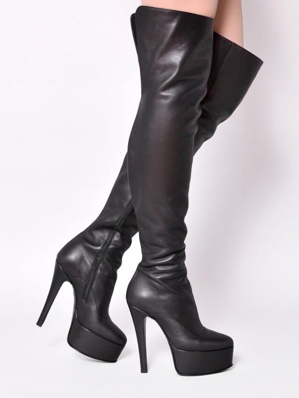 ae939c5c3ecdb9 Boots - 1666-50 - Vitello nero - high-heels Shoes Shop by Fuss