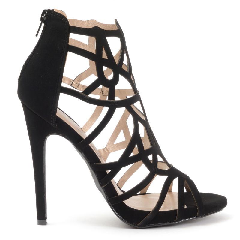 sandals xenia 23 black high heels shop by fuss. Black Bedroom Furniture Sets. Home Design Ideas