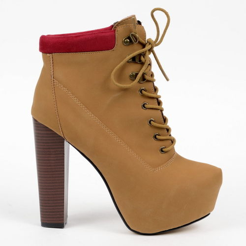 Boots - Jane-26 - camel-red