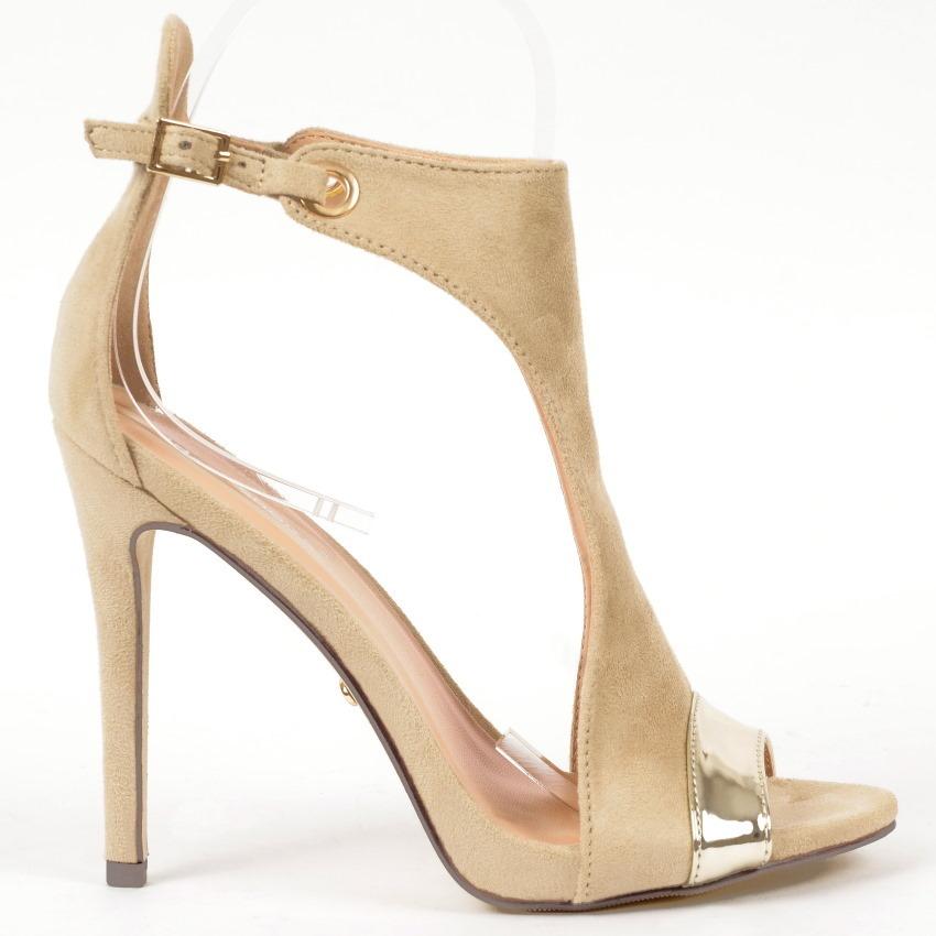 sandals mona 27 beige high heels shop by fuss schuhe. Black Bedroom Furniture Sets. Home Design Ideas