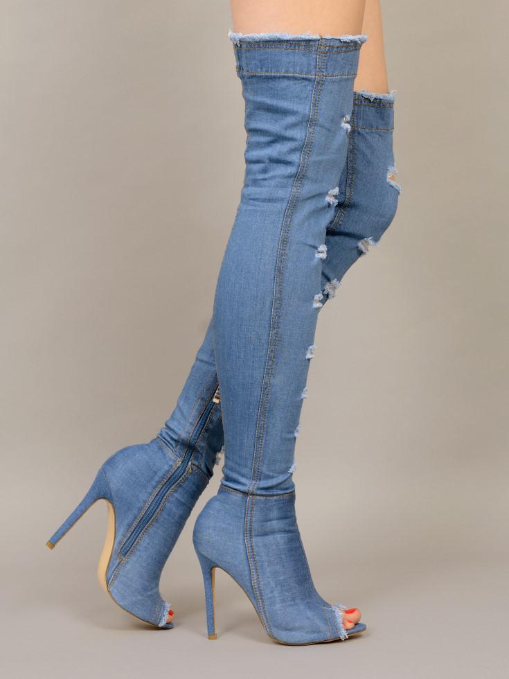 480f69fe4a9 Boots - INDIRA-19 - blu-jeans - High Heels Shop by FUSS Schuhe ...