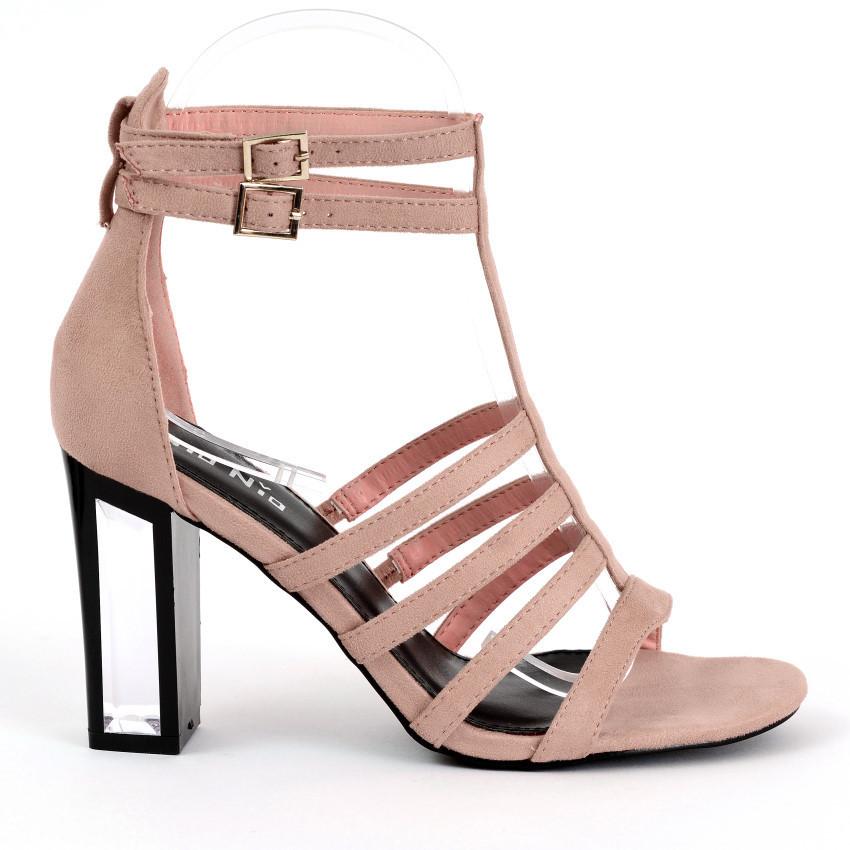 sandals maja 25 pink high heels shop by fuss schuhe. Black Bedroom Furniture Sets. Home Design Ideas