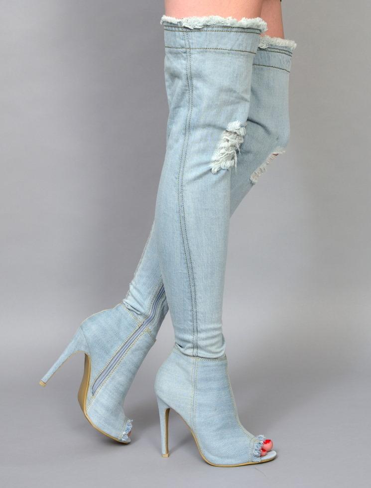 0c91214dd0b Boots - INDIRA-20 - light blue - High Heels Shop by FUSS Schuhe ...