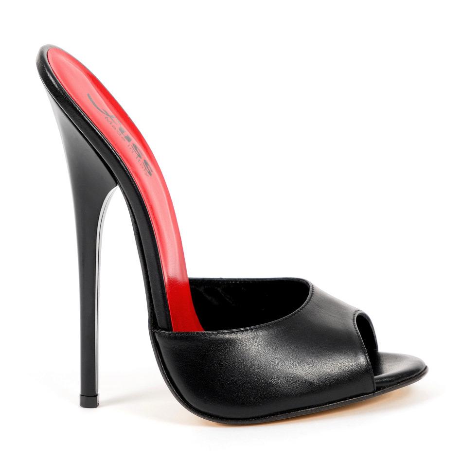 0aed6306162 Mules - 584-2443 - Vitello nero - sexy Mules by Fuss Schuhe
