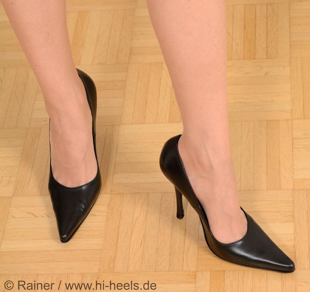 Pumps 9968 88 Vitello nero high heels Shoes Shop by Fuss