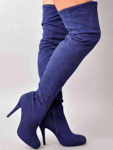 Boots - 5900-2053 - blue stretch
