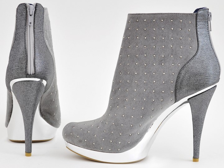 Boots - Galaxy - grigio - High Heels Shop by FUSS Schuhe - Sexy ... efc815eb12