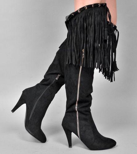 Stiefel überkniestiefel Stiefeletten High Heels Shop Von Fuss
