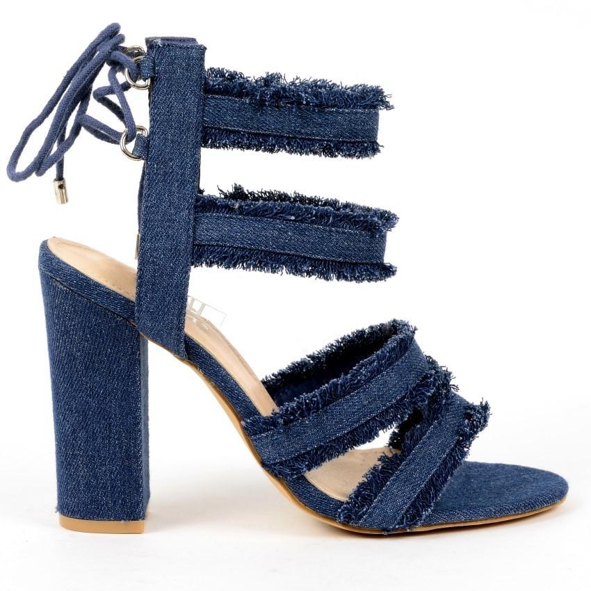 Sandals - Linda-26 - navy - sexy high