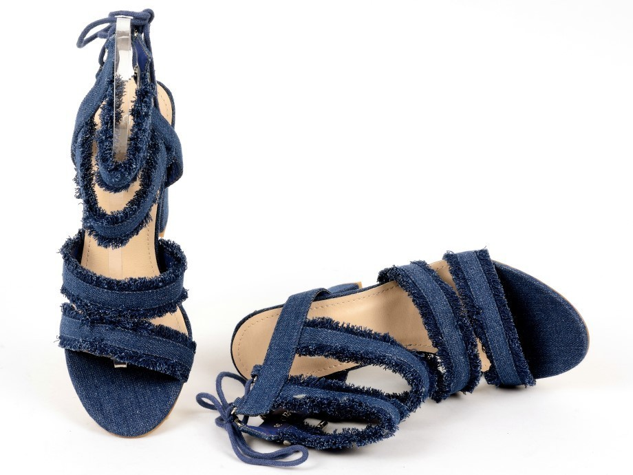Sandals Linda 26 navy High Heels Shop by Fuss Schuhe