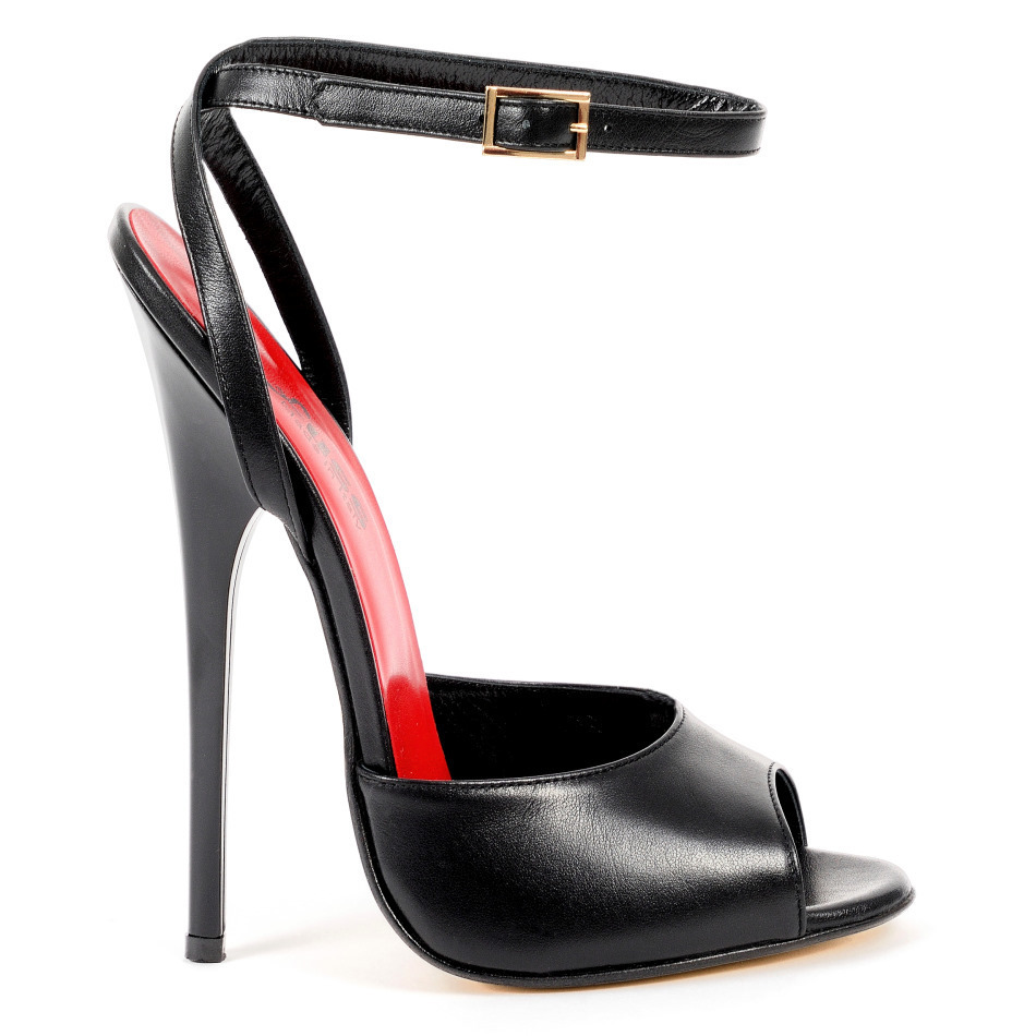 Sandals 585 2443 Vitello Nero Extreme Heels By Fuss