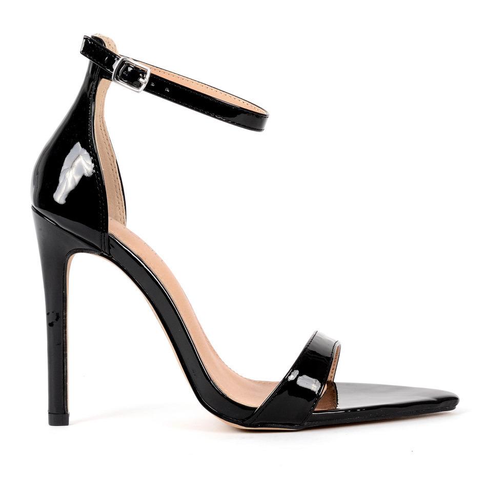Sandals - ALINA - black patent - High
