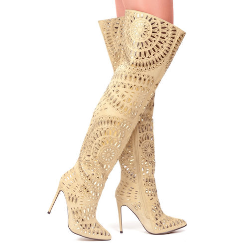 Boots - Andalusia-25 - beige