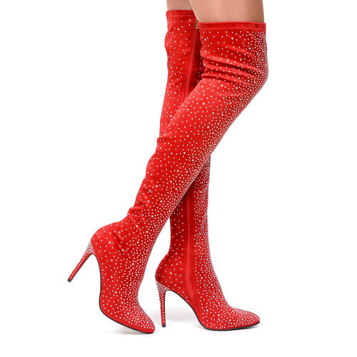 Boots - Adriana-23 - red