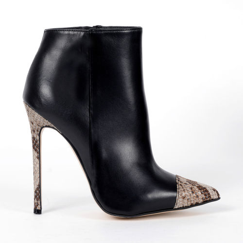 Boots - 4942 - Vitello nero & pitone