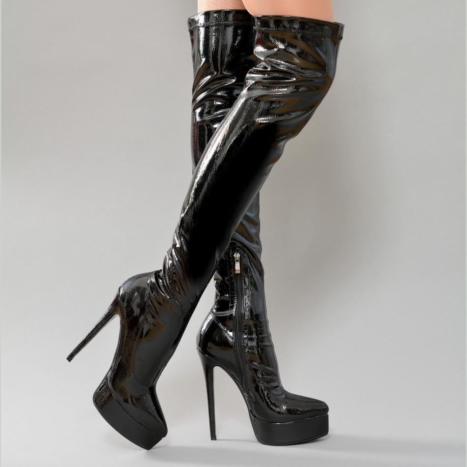 Boots - Tanja-05 - black - sexy high