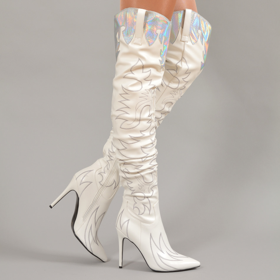 Boots - Mariola-09 - white - sexy high